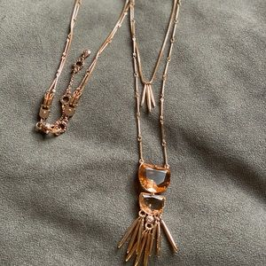 Rose gold two in one necklace Long